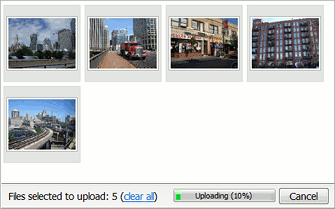Instant upload mode in Aurigma Image Uploader 7.