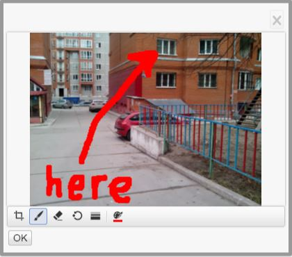 Drawing marks on an image in Aurigma HTML5 uploader
