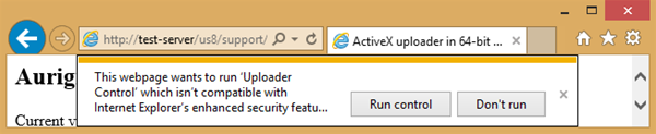 Enhanced Protection Mode in IE