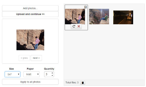 Photo Order demo - Aurigma Upload Suite