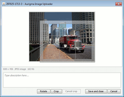 Crop editor in Aurigma Image Uploader 7.