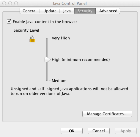 How To Enable Java On Mac Running Local Java Applets on a